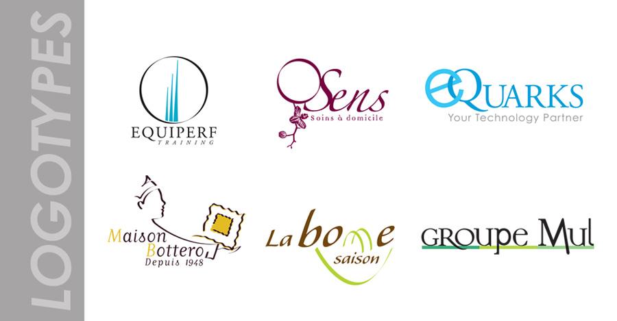 Création de logos et de leur charte graphique.